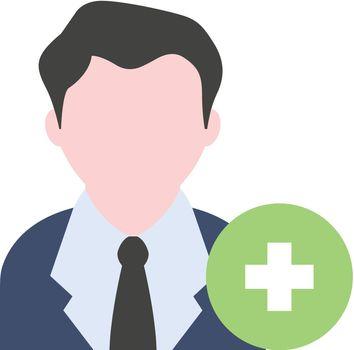 Flat icon - Add team member