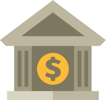 Flat icon - Bank building