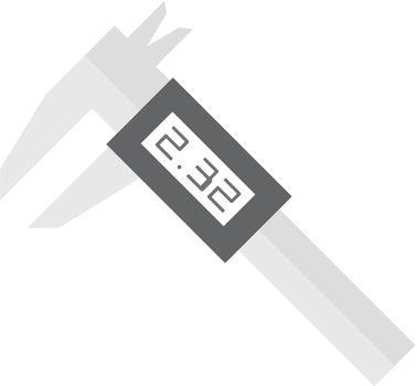 Flat icon - Digital caliper