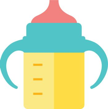 Flat icon - Milk bottle