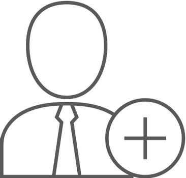 Outline icon - Add team member
