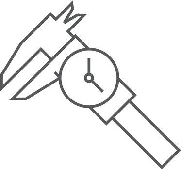 Outline icon - Digital caliper