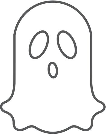 Outline icon - Halloween ghost