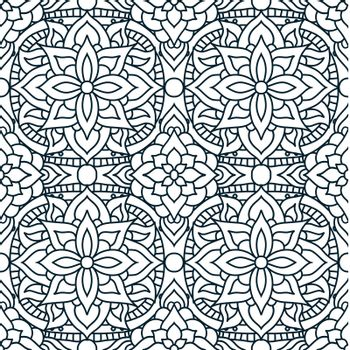 Indian mandala pattern seamless vector design. Vector seamless pattern for fabrique. EPS 10.