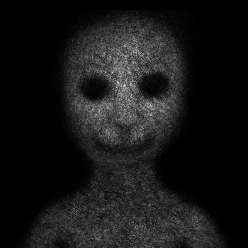 Hairless anthropomorphic creature