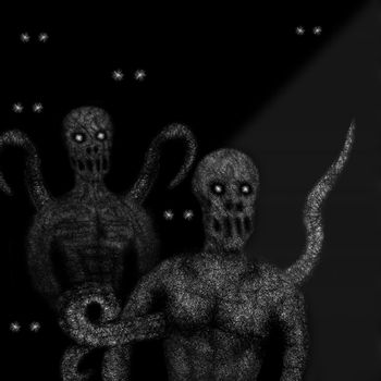 Zombies mutants with tentacles
