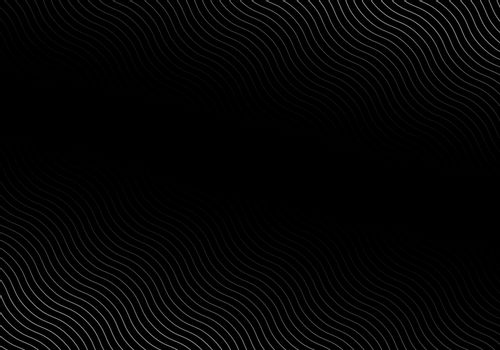 Abstract wave lines white color pattern on black background