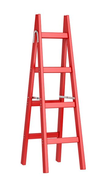 Red double sided ladder