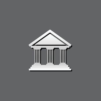 Metallic Icon - Bank building
