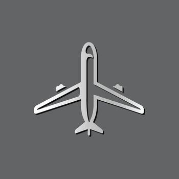 Metallic Icon - Airplane commercial