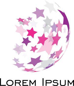 Abstract Spheric Soccer Ball Logo