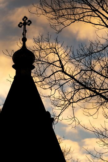 Silhouette of the roof of the Orthodox Cathedral