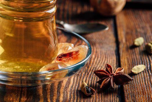Spiced tea in oriental glass