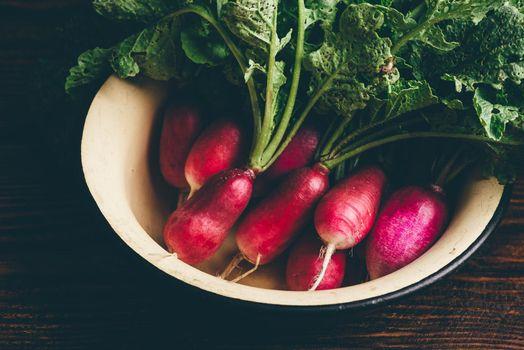Bowl of red radish