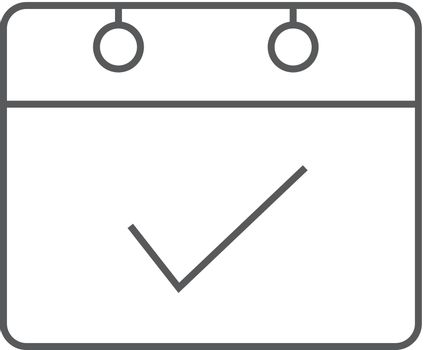 Outline icon - Available calendar reminder