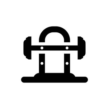 Barbell weightlifting icon