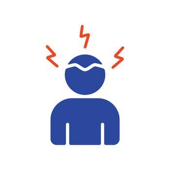 Novel Coronavirus symptoms headaches glyph icon