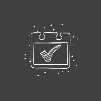 Sketch icon in black - Available calendar reminder