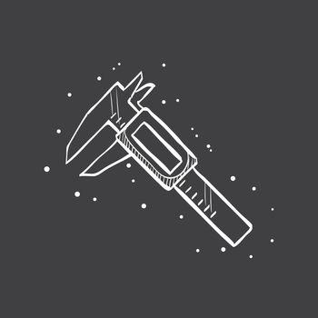 Sketch icon in black - Digital caliper