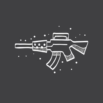 Sketch icon in black - Vintage Firearm