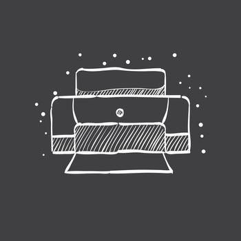 Sketch icon in black - Printer