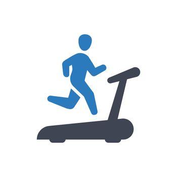 Treadmill exercise icon