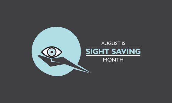 Vector Illustration of Sight Saving Month is observed in August.