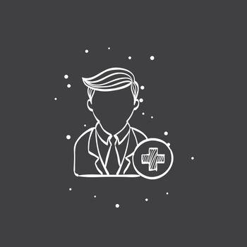 Sketch icon in black - Add team member