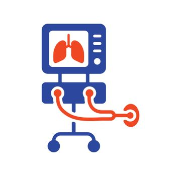 ICU ventilator medical therapy lungs ventilation icon