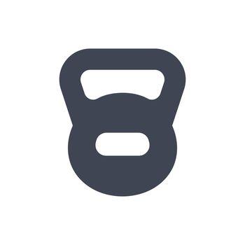 Weight kettlebell icon