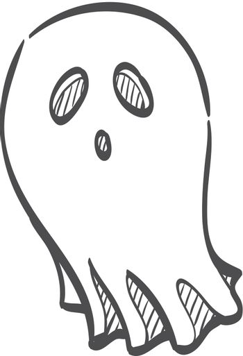 Sketch icon - Halloween ghost