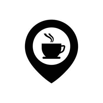 Coffee shop location icon