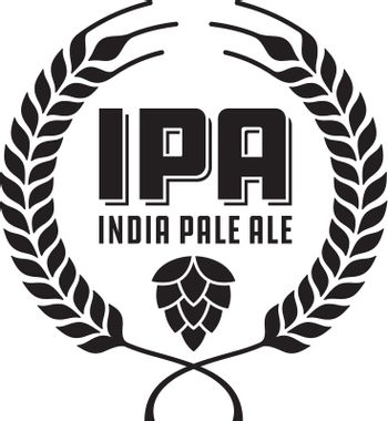 IPA or India Pale Ale Badge or Label.