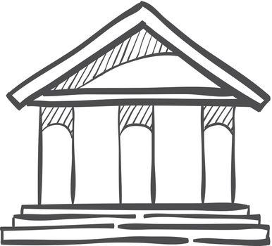 Sketch icon - Bank building