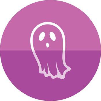 Circle icon - Halloween ghost